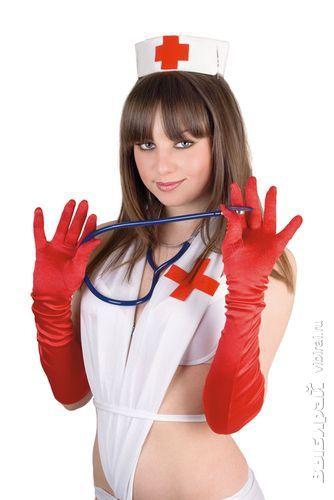 Портрет сексуальные медсестры со стетоскопом. Изолированный